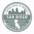 Royalty-Free Stock Vector Image: California, San Diego stamp