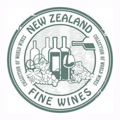 New Zealand, Fine Wines stamp — Stock Vector
