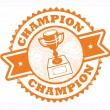 Champion stamp — Stock Vector