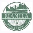 Manila, Philippines stamp - Stock Vector