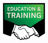 Education and Training sign — Stock Vector
