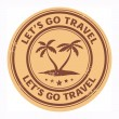 Let's go travel stamp — Stock Vector #22605385