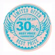 Best Price, Limited Offer sign - Stock Vector
