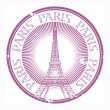 Paris theme stamp — Stock Vector
