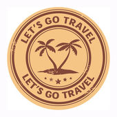 Let's go travel stamp — Stock Vector