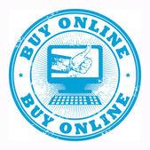 Buy Online stamp — Stock Vector