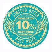 Nejlepší cena, omezená nabídka podepsat — Stock vektor