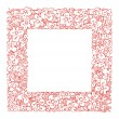 Royalty-Free Stock Vector Image: Abstract floral frame