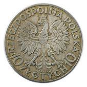 Vintage Poland coin — Stock Photo