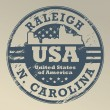 North Carolina, Raleigh stamp — Stockvectorbeeld