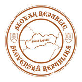 Slovak Republic stamp — Stock Vector
