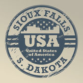 South Dakota, Sioux Falls stamp — Stock Vector