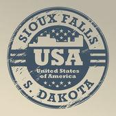 South Dakota, Sioux Falls stamp — Stock Vector