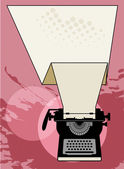 Vintage typewriter — Vector de stock