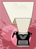 Ročník psací stroj — Stock vektor