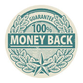 Money Back stamp — Stock Vector