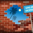 Royalty-Free Stock Vector Image: Gone on Vacation