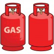 Stock Vector: Gas cylinder