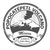 Popocatepetl Volcano, Mexico sign — Stock Vector