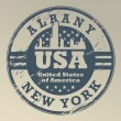 New York, Albany stamp — Stock Vector