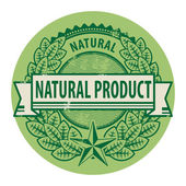 Natural Product sign — Stock Vector
