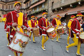 Parade in siena — Stockfoto
