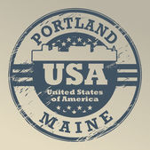 Maine, sello de portland — Vector de stock
