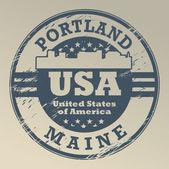 Maine, timbro di portland — Vettoriale Stock