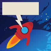 Cohete en el espacio — Vector de stock