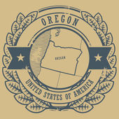 Oregon, USA stamp — Stock Vector