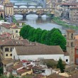 Medieval bridge over the Arno River, in Florence, Italy — Stock Photo #25195379