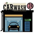 Royalty-Free Stock Vector Image: Car wash station