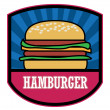 Stock Vector: Hamburger label