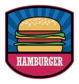 Hamburger label — Stock Vector