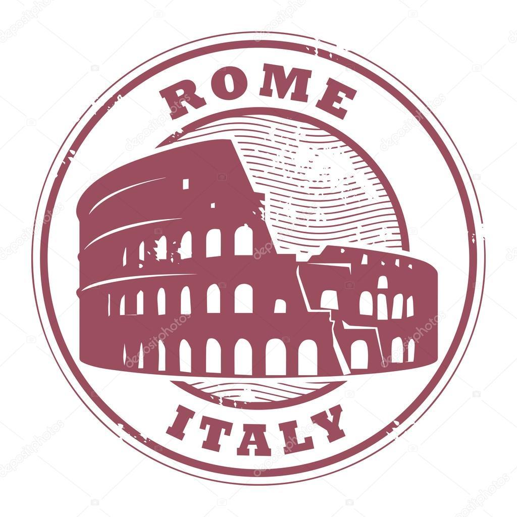 Roma carimbo de it lia vetor de stock fla 25438819 - Canape roma huis van de wereld ...