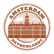 Stock Vector: Amsterdam, Netherlands stamp