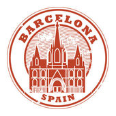 Barcelona, Spain stamp — Stock Vector