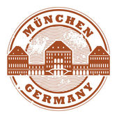 Munchen, Germany stamp — Stock Vector
