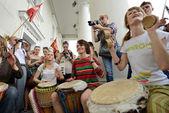 Dia da música de rua em maio, vilnius — Fotografia Stock