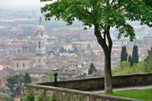 View to the Bergamo city — Stockfoto
