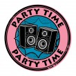 Party time stamp — Stock Vector