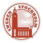 Stockholm, Sweden stamp — Stock Vector