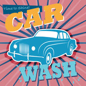 Retro car wash sign — Vector de stock