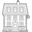 Royalty-Free Stock Imagem Vetorial: House outline