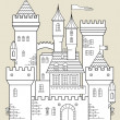 Stock Vector: Castle