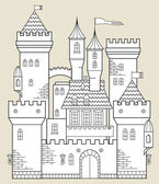 Castle — Stock Vector