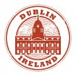 Stock Vector: Dublin, Ireland stamp