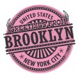 Brooklyn, New York City stamp — Stock Vector