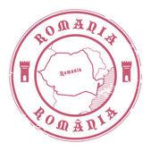 Romania stamp — Stock Vector