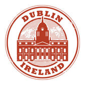 Dublin, Ireland stamp — Stock Vector
